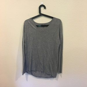Trouve gray long sleeve sweater